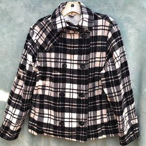 Woolrich Moccasin Plaid Doubke Breasted Jacket